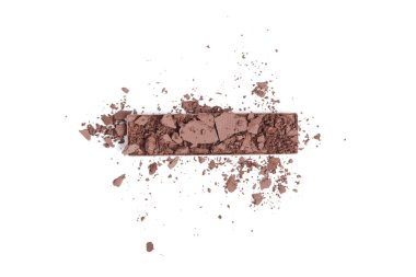 Top view of brown eyeshadow isolated on white stock vector