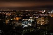 Fotografie cityscape with bright illumination in windows of buildings