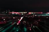 tmavě panoráma s rozmazané jasné osvětlení v noci