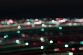 defocused multicolored bokeh lights at night