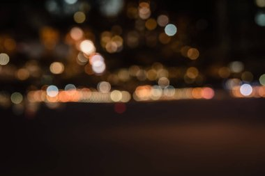 night background with blurred bokeh lights