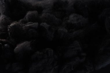 Black cotton wool clouds, dark Halloween background stock vector