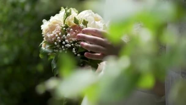 Menyasszony esküvői virágok