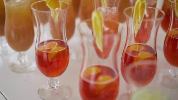 Orange Cocktails in Cocktail Glasses. orange cocktail