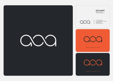 Letters logo Aoa, template for business card