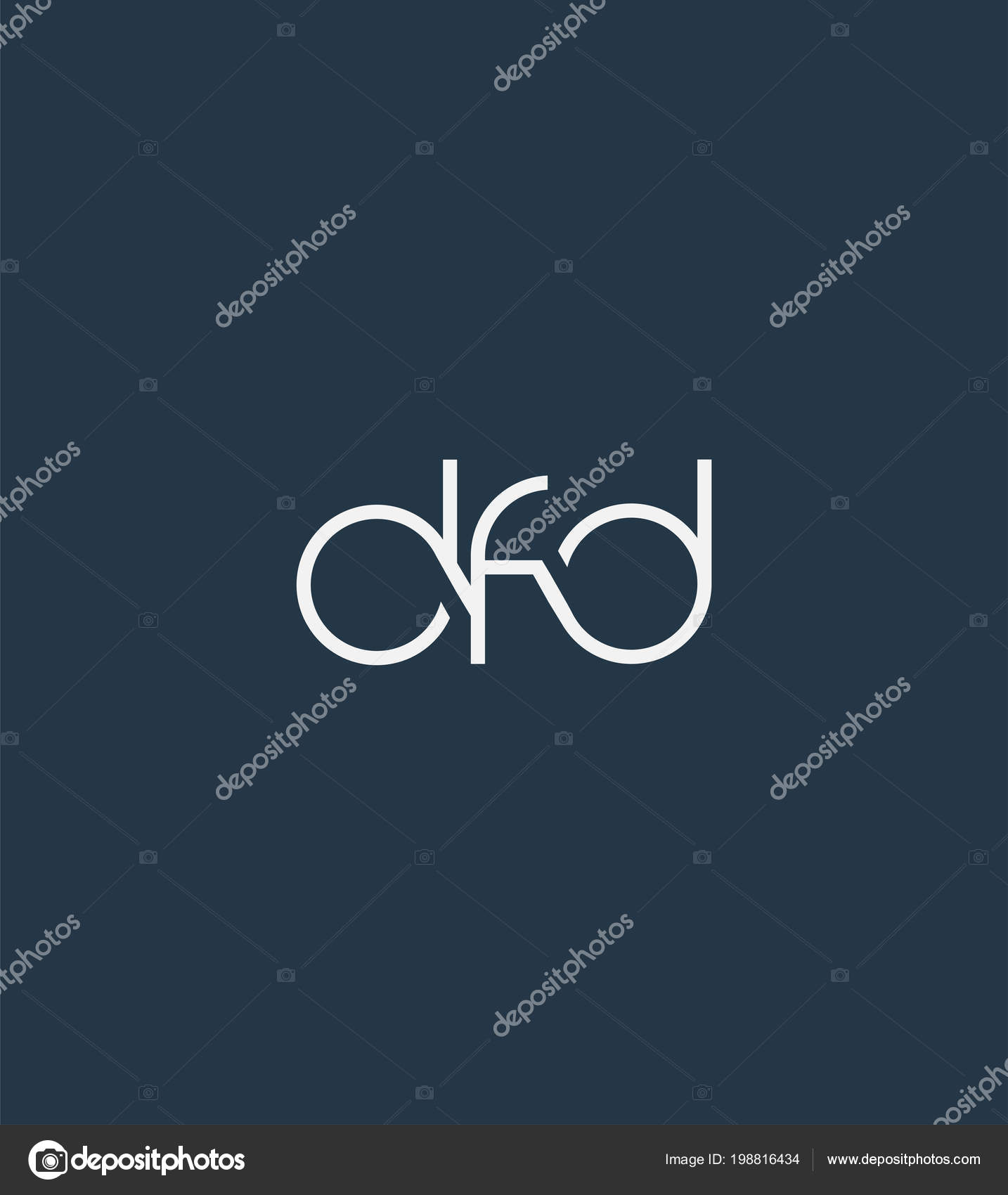 Letters Logo Dfd Template Business Banner — Stock Vector ...