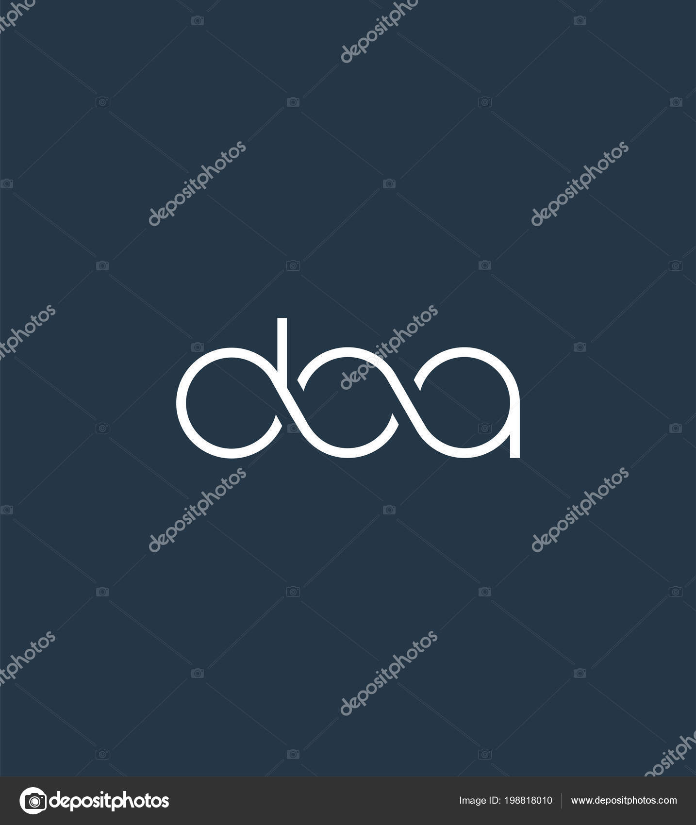 letters logo doa template business banner ストックベクター