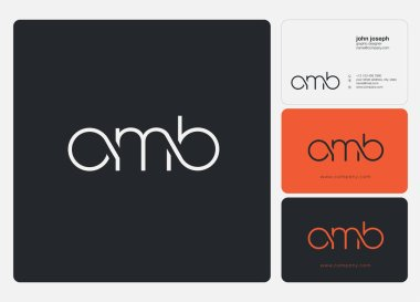 Letters logo Omb template for business banner