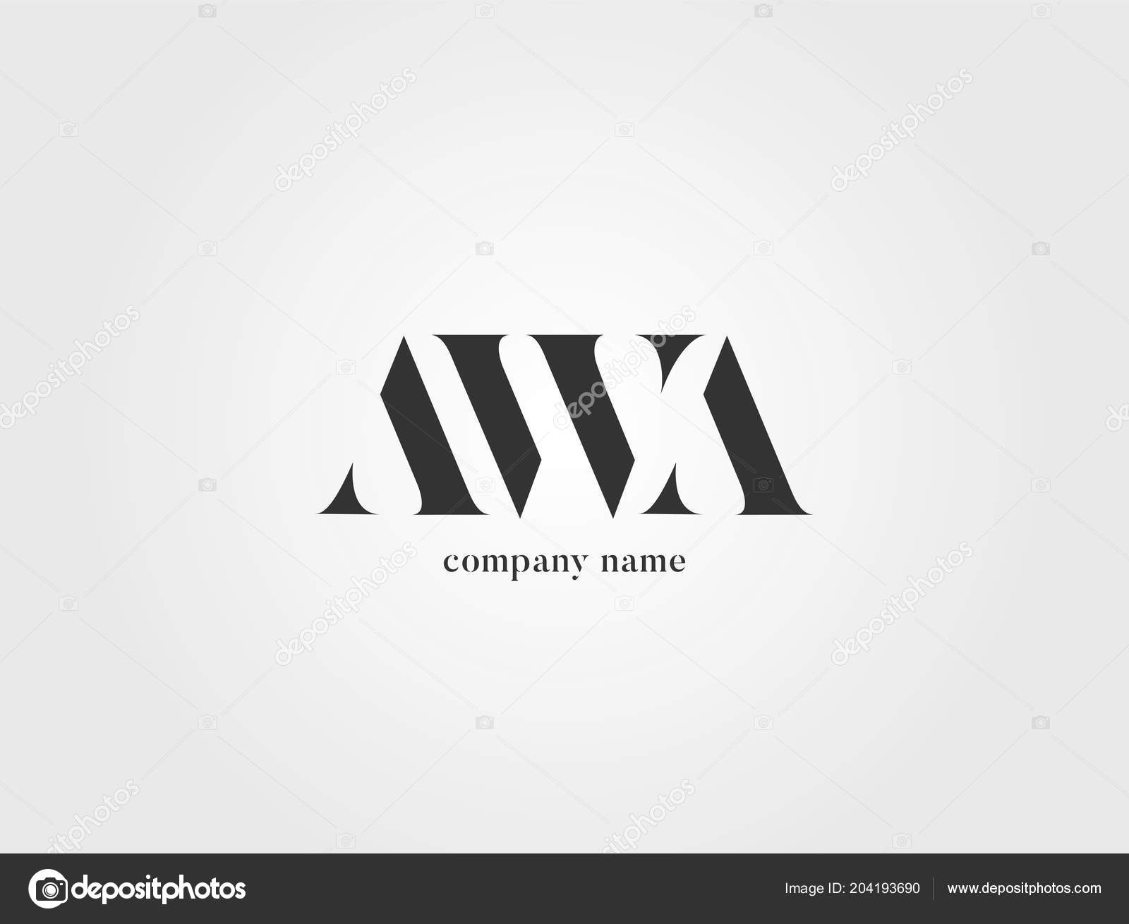 letters logo awb template business banner stock vector