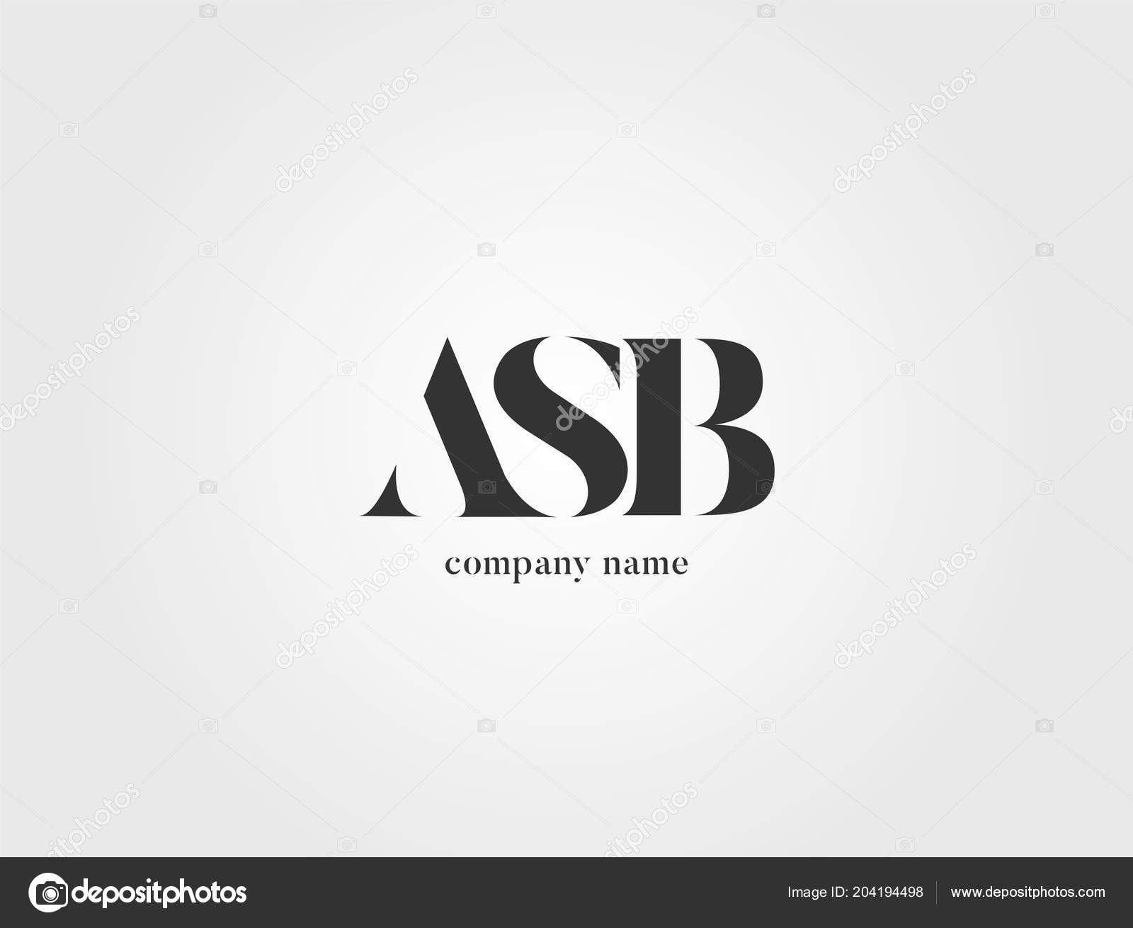 Letters Logo Asb Template Business Banner — Stock Vector
