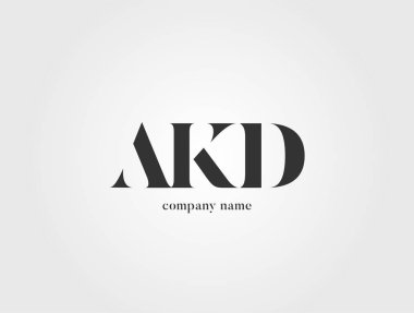 Letters logo Akd template for business banner