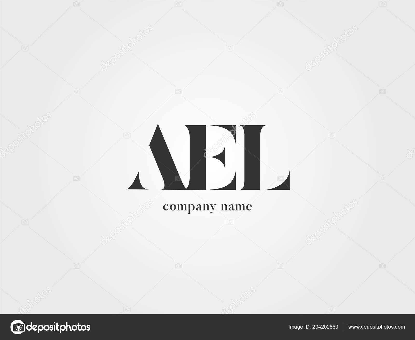 letters logo ael template business banner ストックベクター