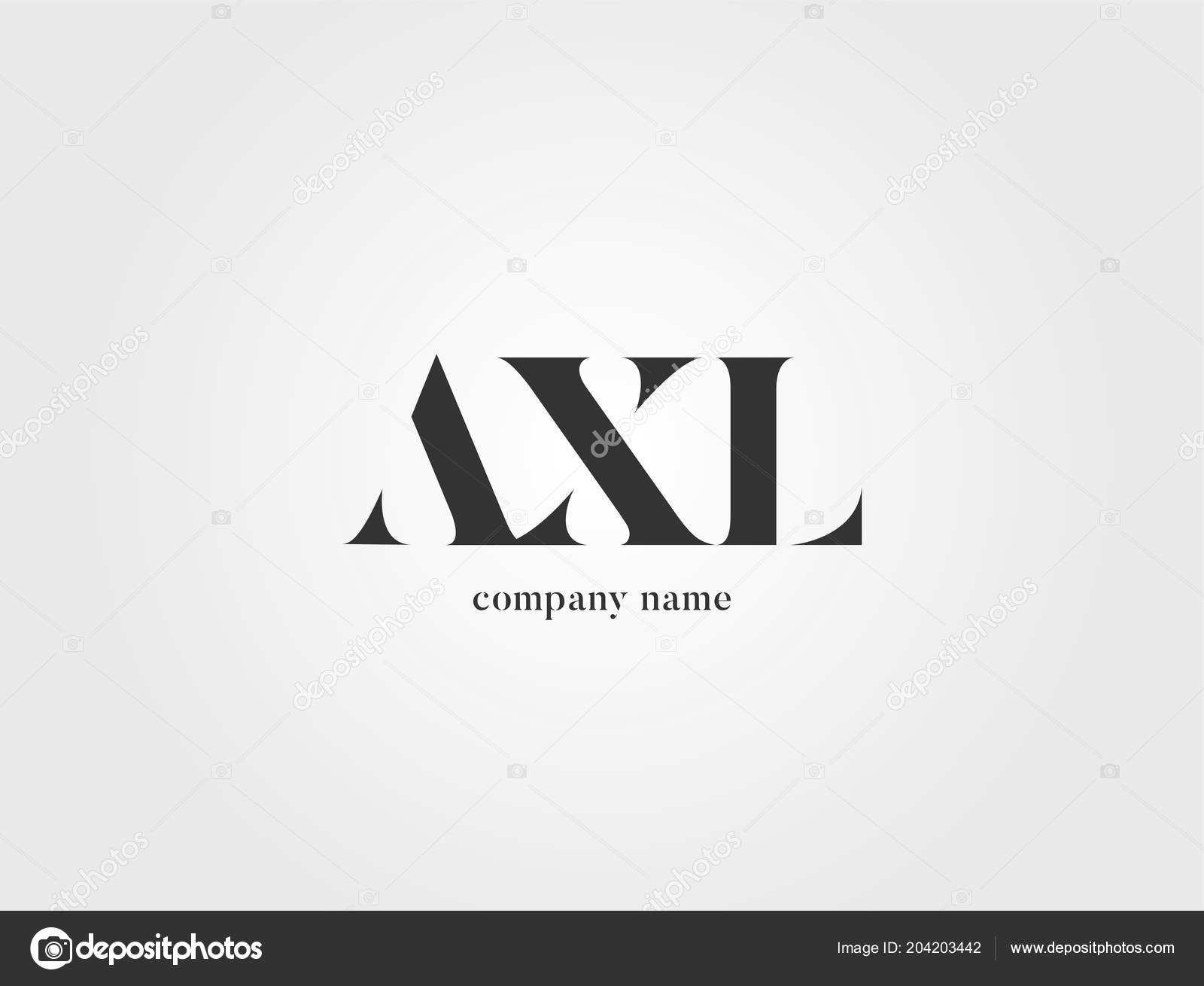 letters logo axl template business banner ストックベクター
