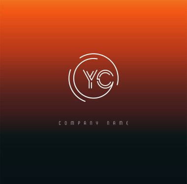 Letters logo Yc template for business banner
