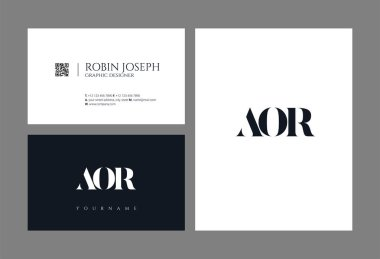logo joint aor for Business Card Template, Vector