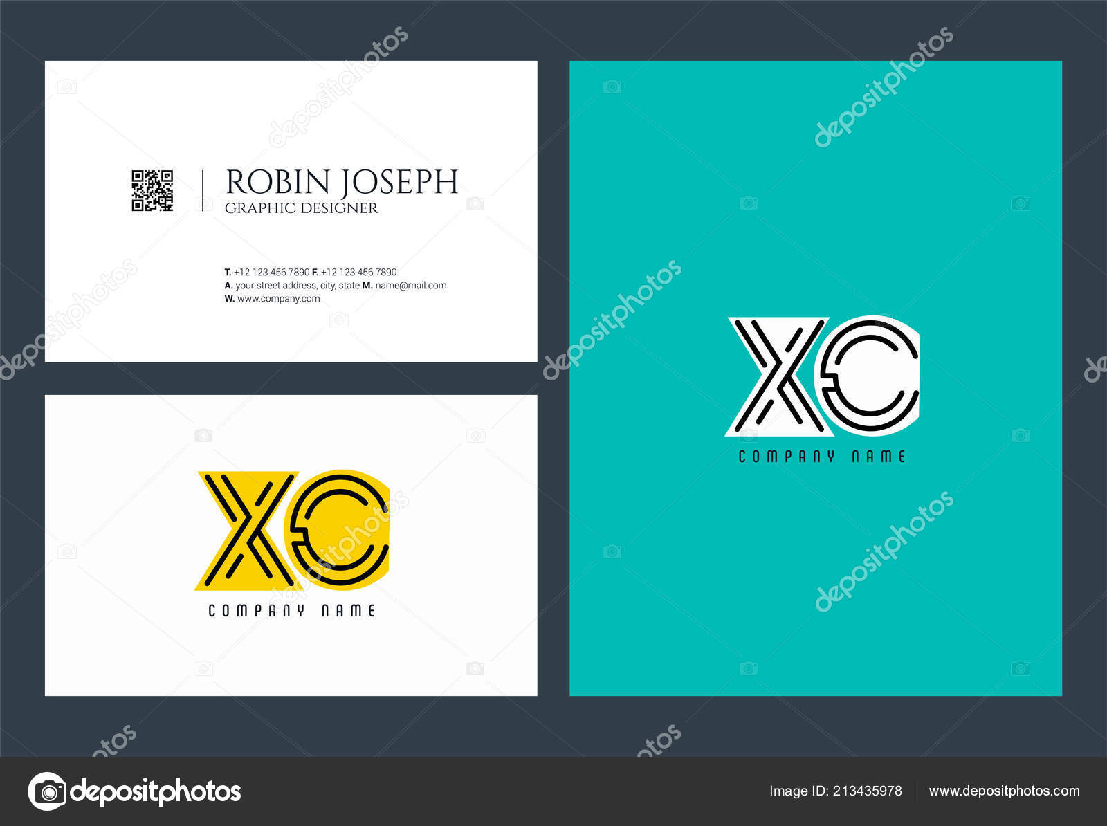 Letters logo template business banner stock vector ajayandzyn letters logo xc template for business banner vector by ajayandzyngmail spiritdancerdesigns Gallery