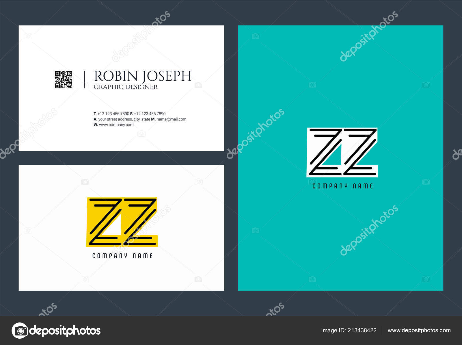 letters logo template business banner stock vector ajayandzyn