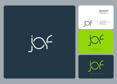 Letters logo Jof template for business banner