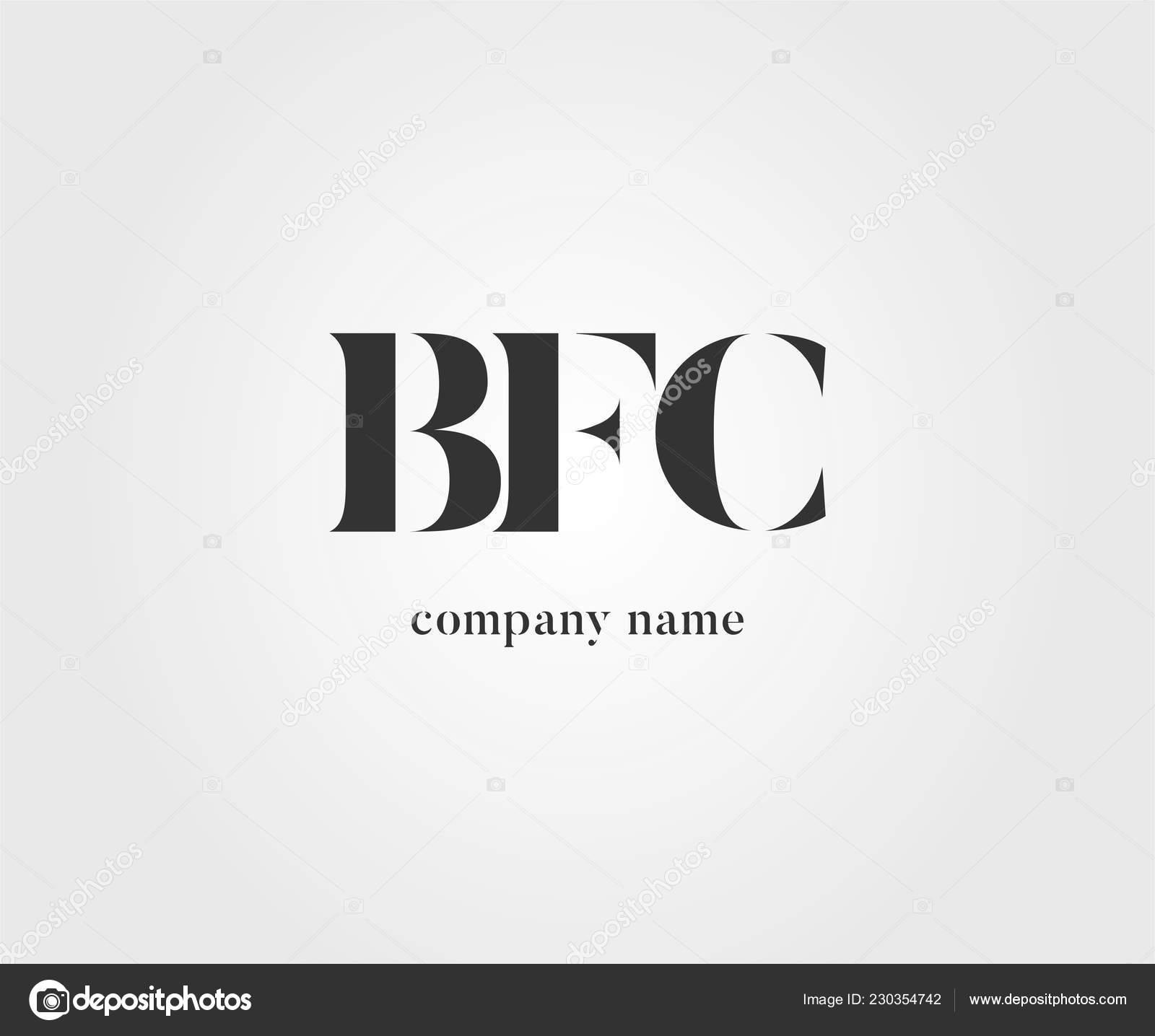 Gemeinsame Bfc Logo Für Visitenkarten Vorlage Vektor