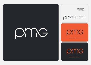 logo joint pmg for Business Card Template, Vector