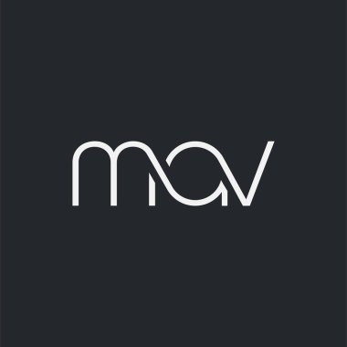 logo joint mav for Business Card Template, Vector