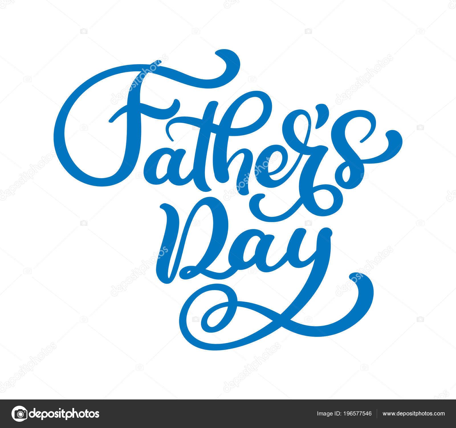 Pais Dia Letras De Fundo Vector Frase Feliz Dia Dos Pais