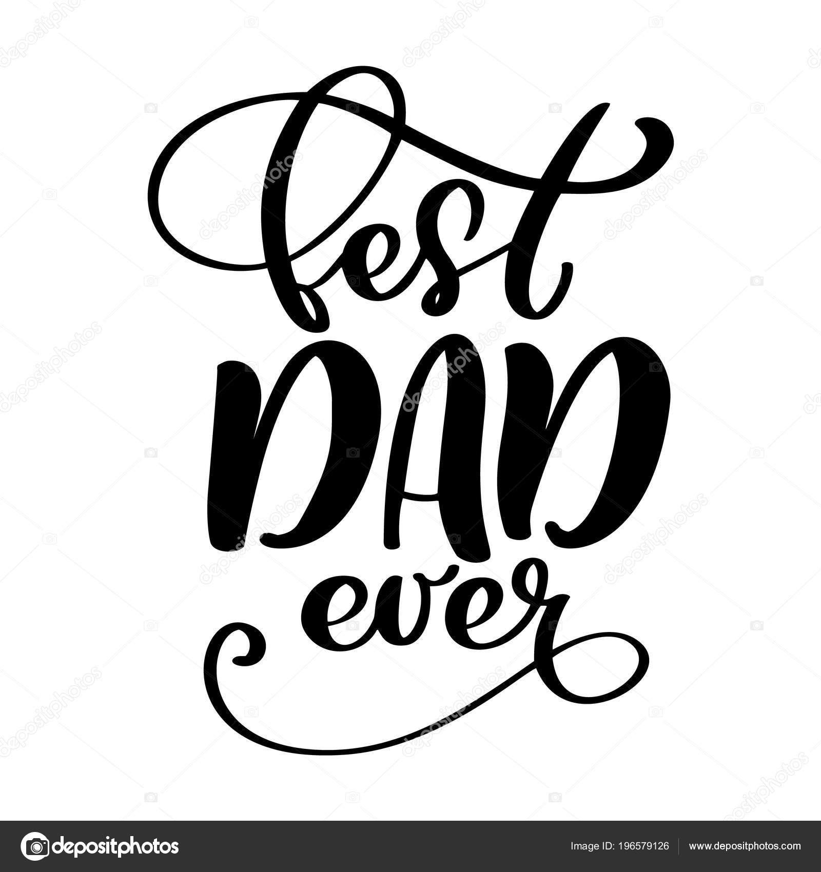 Happy Fathers Day Babe Quotes: Feliz Aislado Padres Citas De Día Sobre El Fondo Blanco