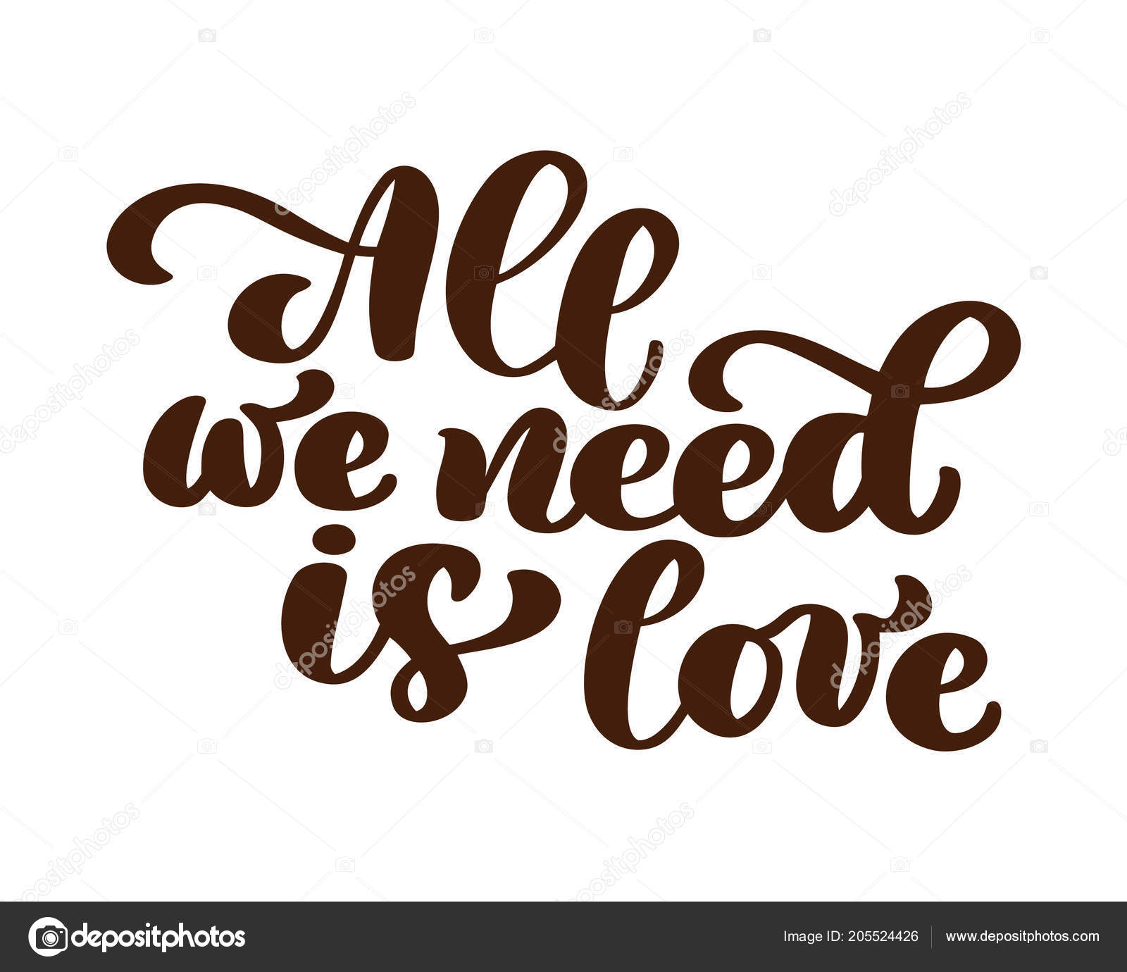 all we need is love love