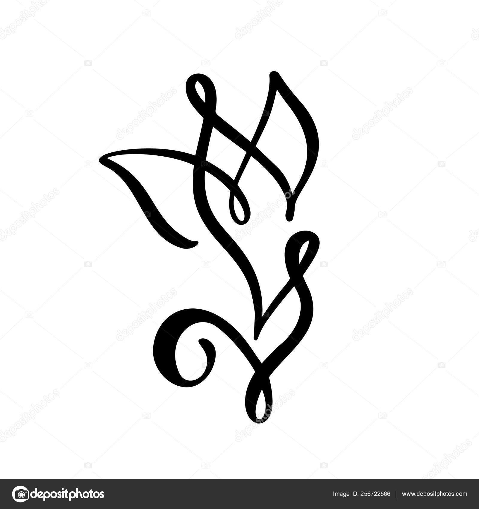 Logo De Fleur De Tulipe Ligne Continue à La Main Dessin