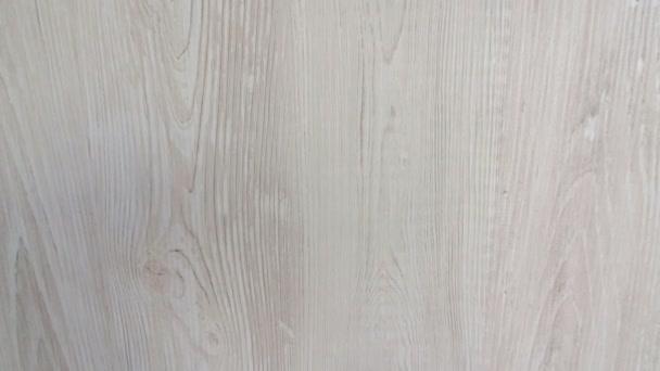 Bílý měkký povrch dřeva jako pozadí. 4k video