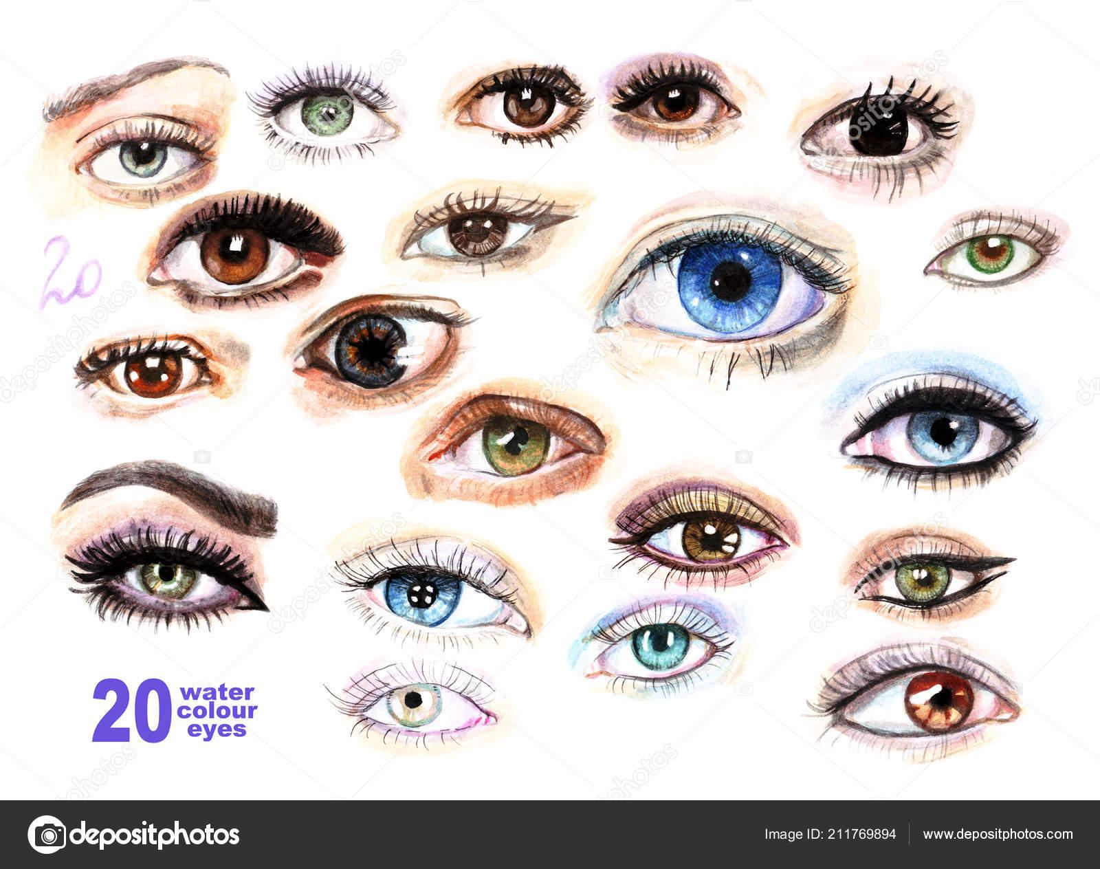 Watercolor Eyelashes