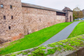 Moss in front of medieval fortress