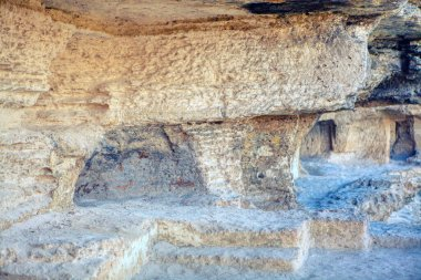 Ruined ancient room from stone Age