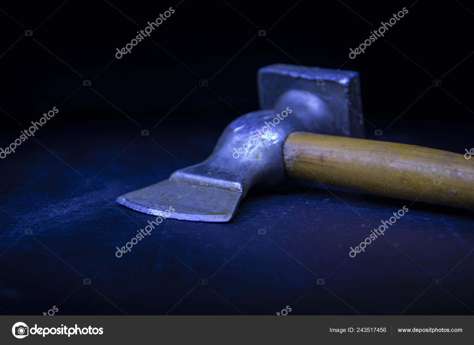 Axe Hammer Cooking Meat Sharp Metal Wooden Handle Tool Kitchen Stock Photo C Romafa 243517456