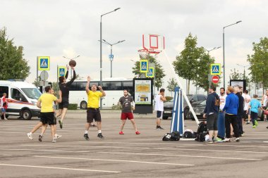 September 9, 2018, Russia, St. Petersburg, street basketball competition