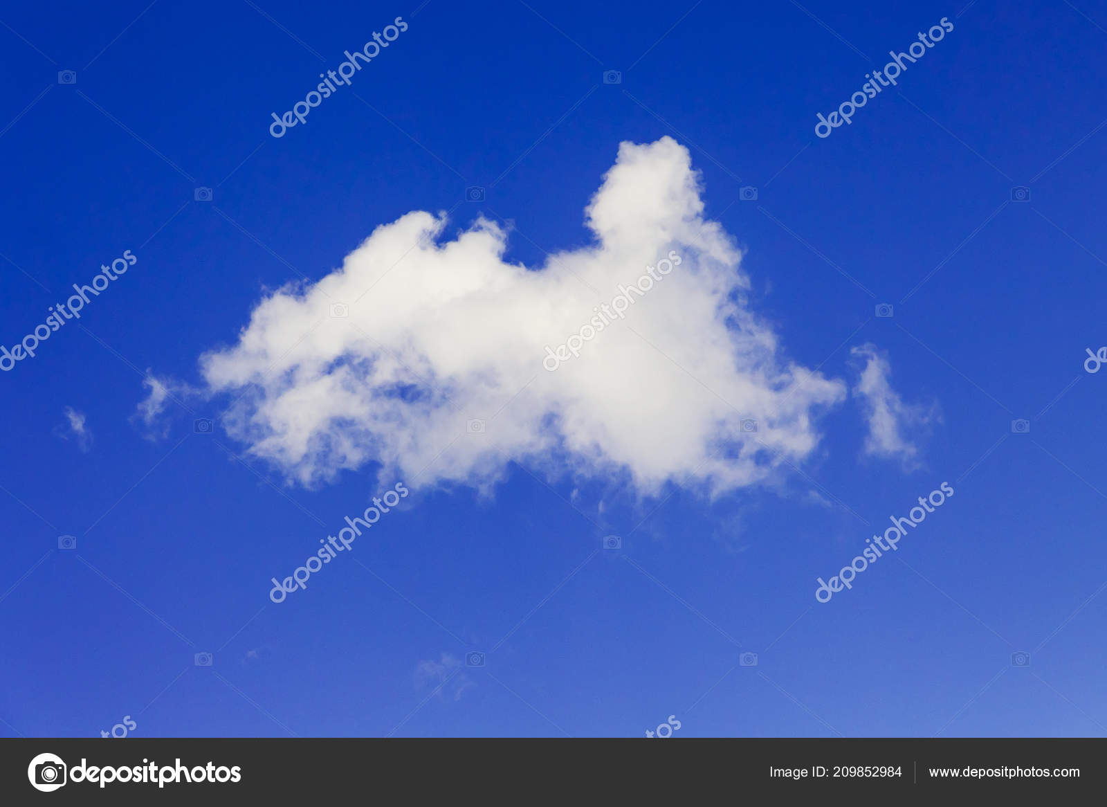 White Fluffy Cloud Blue Sky Bright Sunny Day Template Design Stock Photo C Mvolodymyr 209852984
