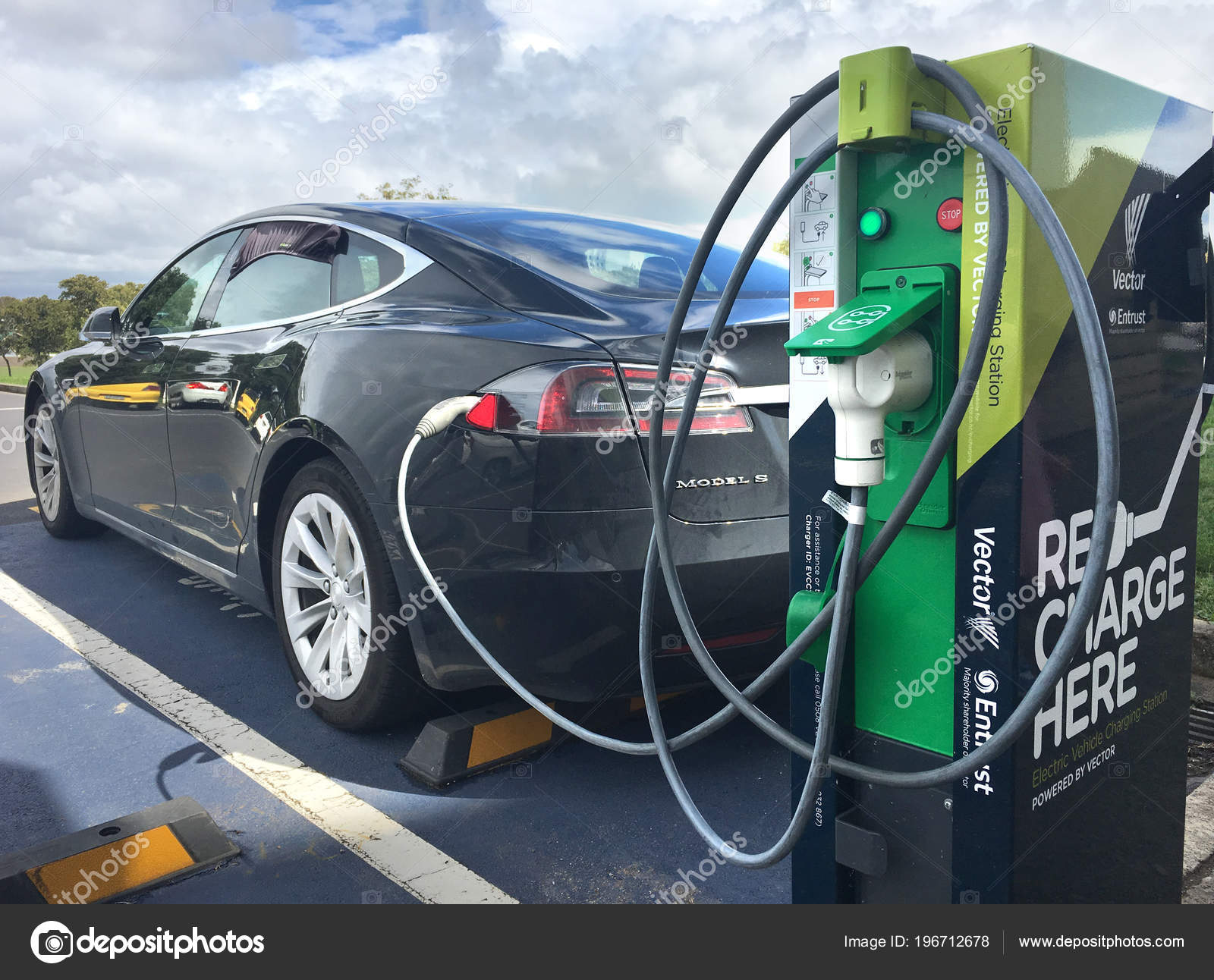 Rapid Electric Vehicle Charging Station Nov 2016 Vectors