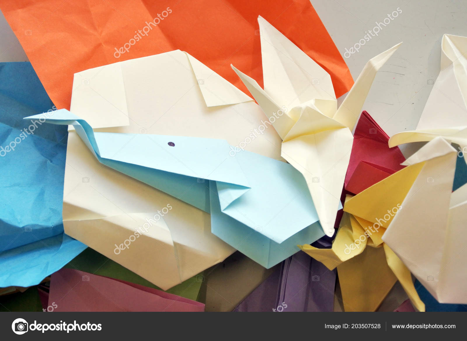 Origami hand drawn vector set, watercolor style, folder paper art color  animals, birds, boat, plane shapes isolated on white background Stock  Vector Image & Art - Alamy | 1167x1600
