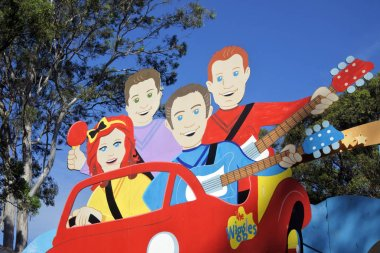 GOLD COAST - JAN 29 2019:The Wiggles characters at Dreamworld, Gold Coast, Australia. The Wiggles are a very famous Australian children's music group.