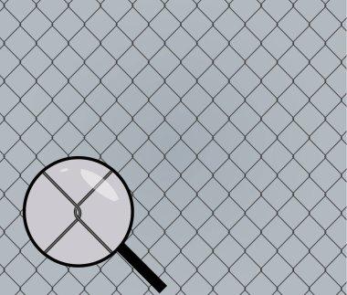 Seamless chainlink fence. Metal mesh. Vector illustration
