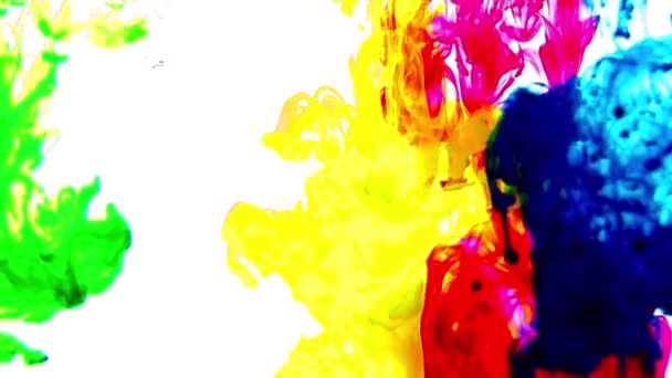 1920x1080 25 fps. sehr schöne abstrakte bunte lebendige wirbelnde Farben Explosion Farbe Explosion Textur Hintergrund Video.