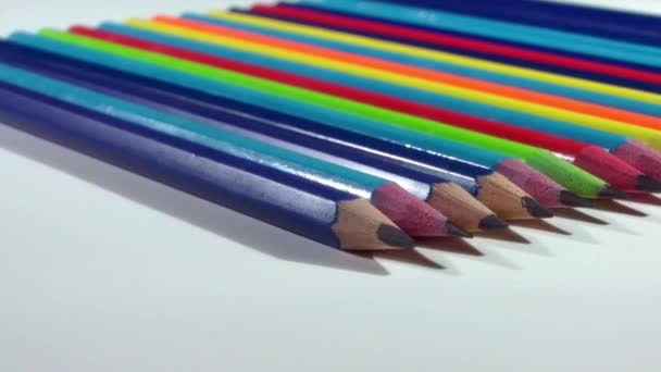 1920x1080 25 Fps. Very Nice Close Up Colorful Pencil Turning Video.