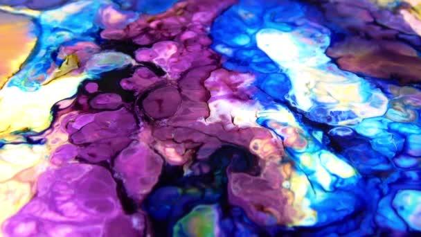 Velmi pěkná inkoust abstraktní umělecké vzory barevná malba kapalný koncept video textury.