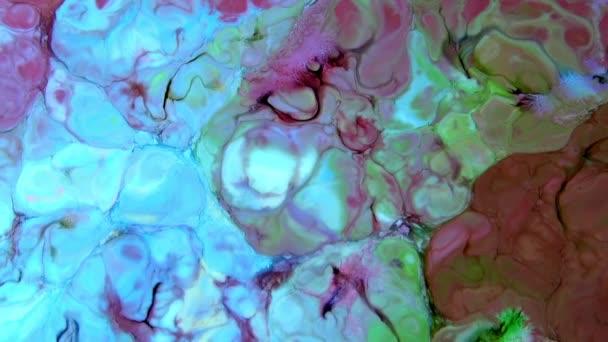 Abstrakte Bunte Farbtinte explodiert Diffusion Psychedelische Explosion Bewegung.