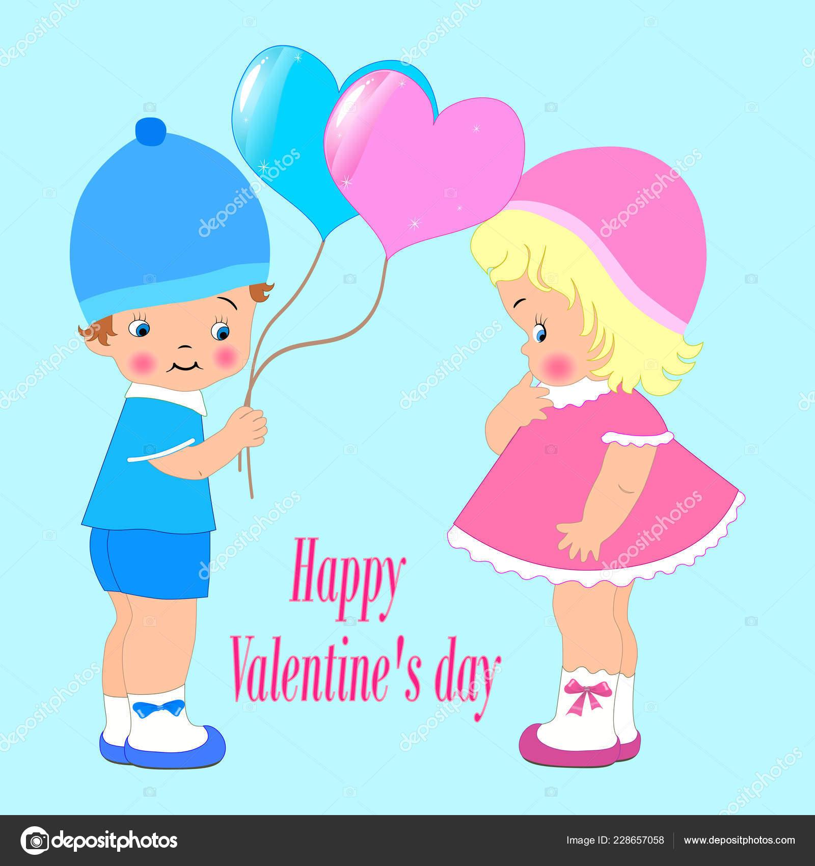 Feliz Día De San Valentín Para Invitación O Tarjeta De