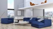 Photo Modern bright interiors apartment 3D rendering illustration
