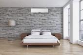 Moderní interiér, klimatizace 3d vykreslování obrázku