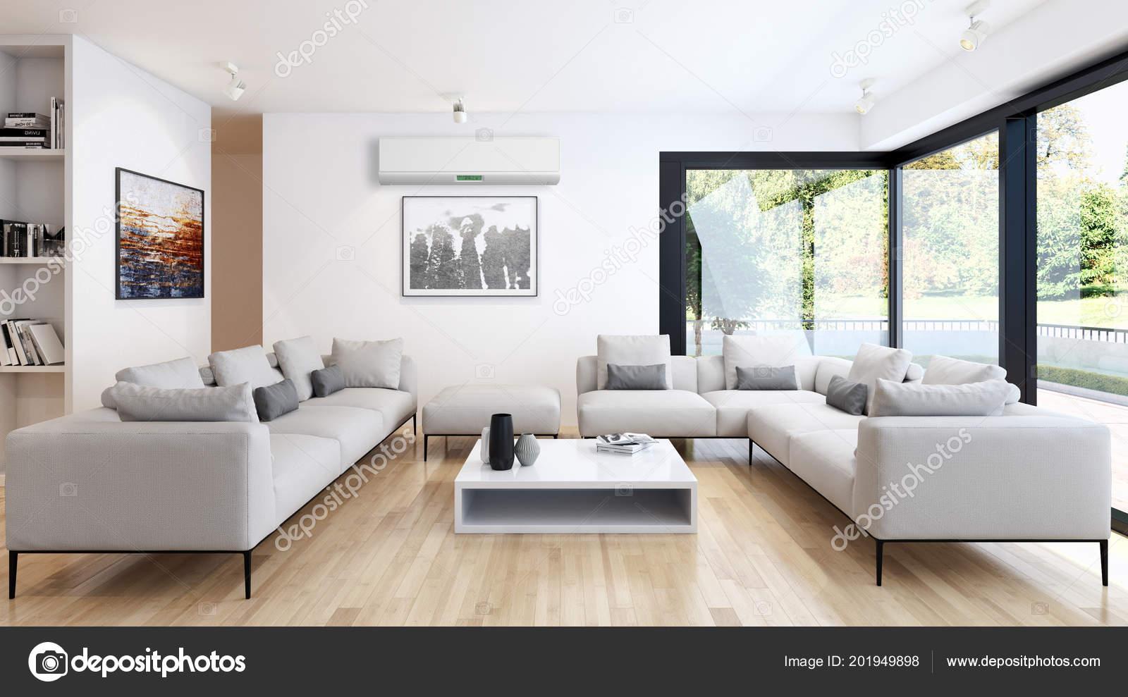 Interni moderni con aria condizionata illustrazione for Foto arredamenti interni moderni