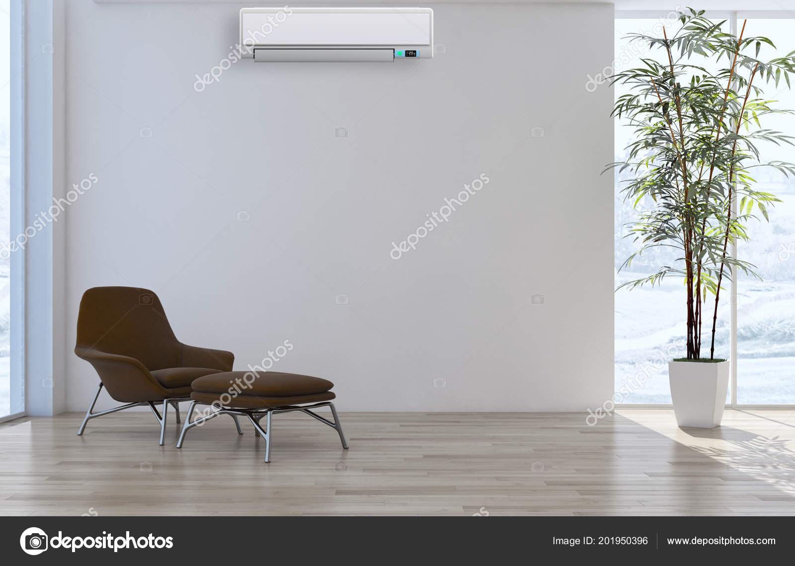 Modern Interior Air Conditioning Rendering Illustration — Stock