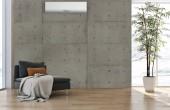 modern, világos belső terek apartman nappali légkondicionáló illusztráció 3d rendering számítógéppel generált kép